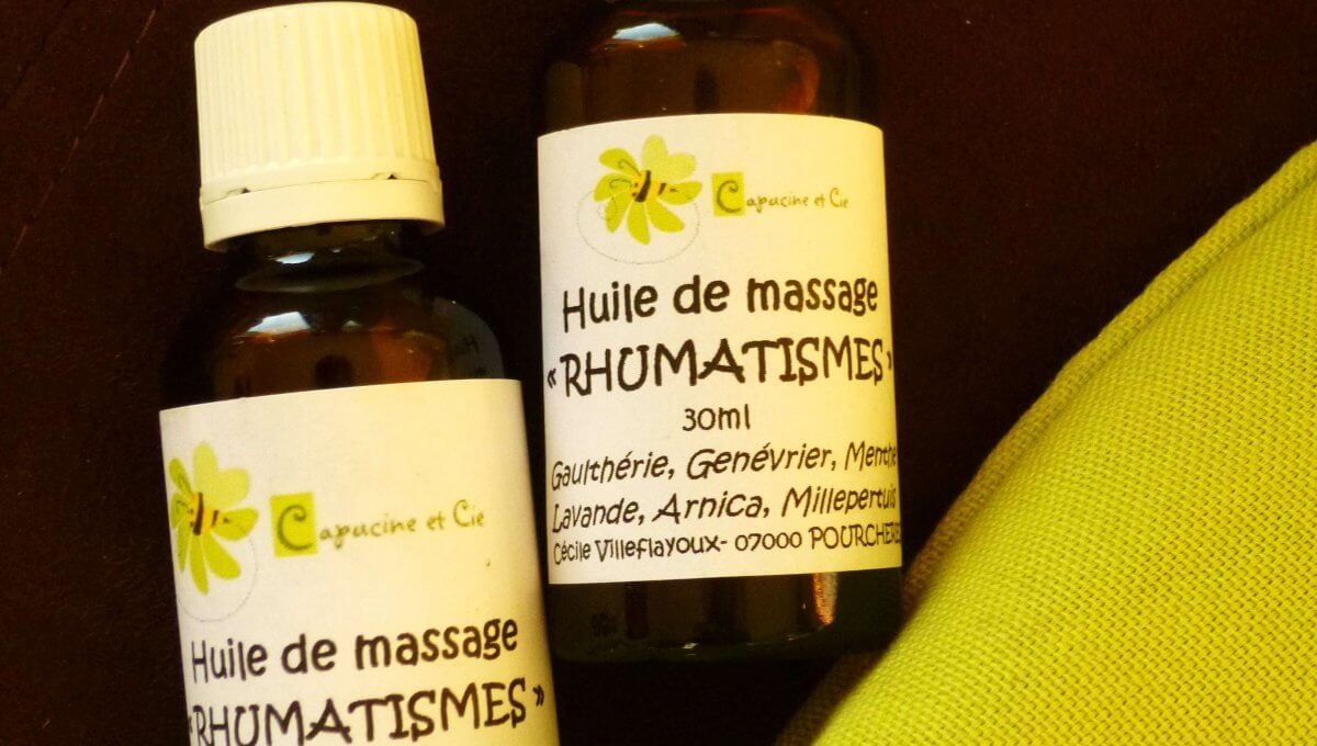 """Huile de massage """"Rhumatismes"""""""
