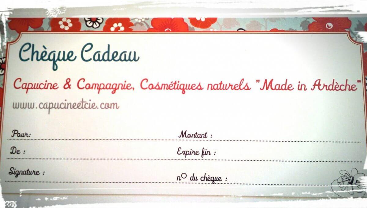 Chèque Cadeau d'une valeur de 50,00€