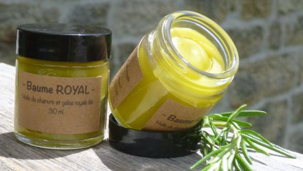 Baume Royal à l'huile de chanvre et gelée royale Bio